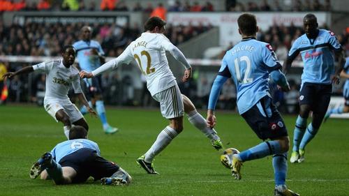 Angel Rangel scored Swansea's second goal