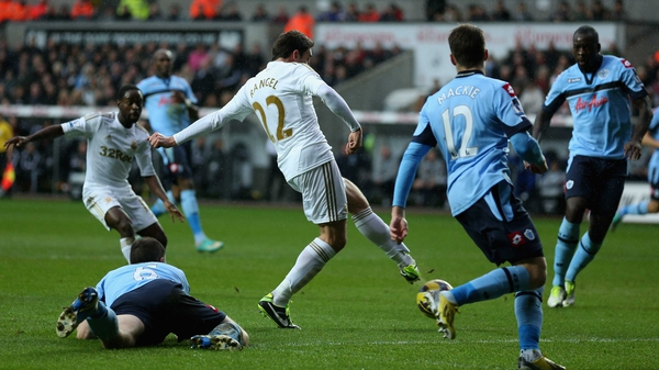 Angel Rangel scored Swansea's second goal
