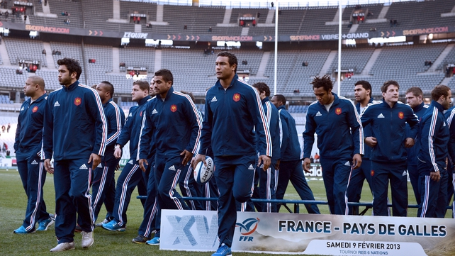 French players warming up this afternoon