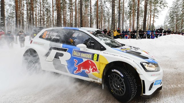 Ogier closes in on victory in Sweden