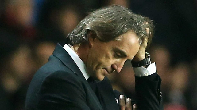 Roberto Mancini was visibly stressed after his side's defeat to Southampton