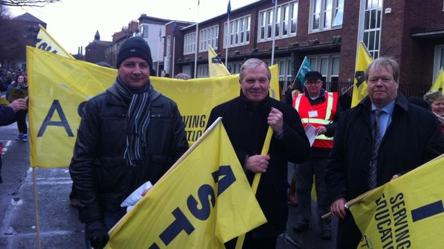 Rallies told debt burden on Irish people was unfair
