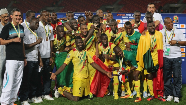 The Mali team and officials were in celebratory mood afterwards
