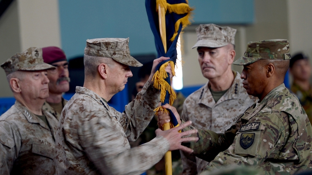 Dunford takes over from US Marine General John Allen