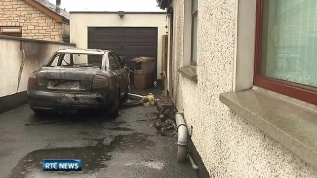 PSNI officers on routine patrol saw the vehicle on fire and alerted Mr Frazer