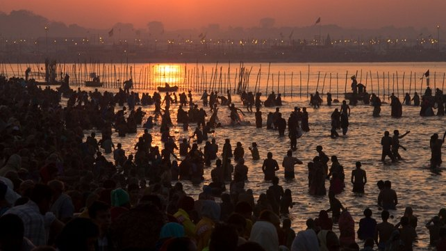 The stampede took place during Kumbh Mela festival