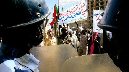Protesters from the nomadic  Misseriya tribe demonstrate in Khartoum