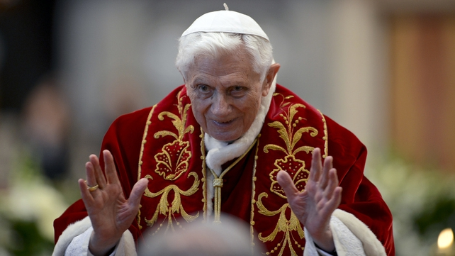 Pope Benedict said mass in the Vatican yesterday