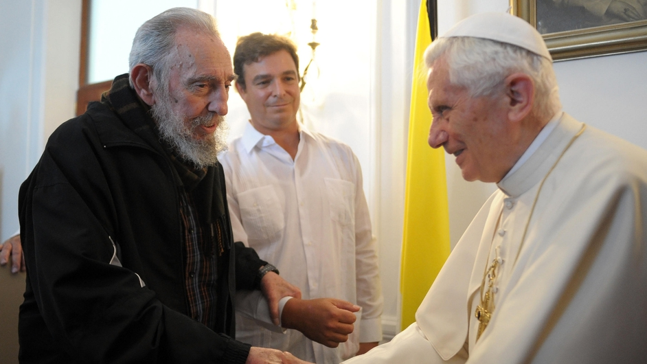 Pope Benedict met former Cuban leader Fidel Castro during a visit to Cuba in March 2012