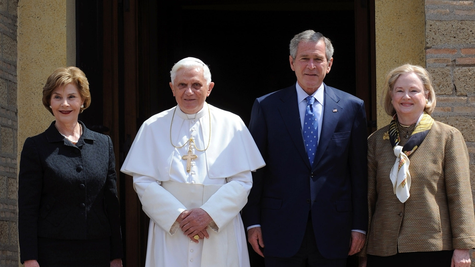US President George W Bush met Pope Benedict on a visit to the Vatican in June 2008