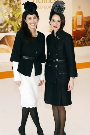 Ashling Kilduff and Caroline Sleiman at the Hennessy Gold Cup