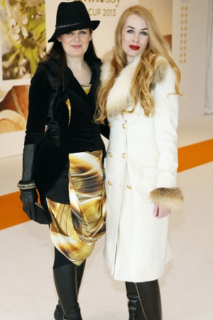 Claire O'Connor and Fiona Foy Holland at the Hennessy Gold Cup