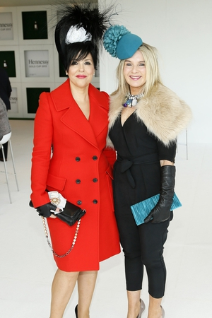 Elaine Bennett Toolan and Marion Cunningham at the Hennessy Gold Cup