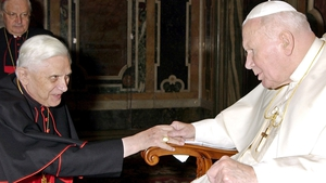 Cardinal Joseph Ratzinger was a close aide to his predecessor John Paul II