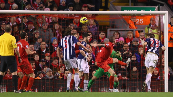 Gareth McAuley headed home to put West Brom on the way to victory