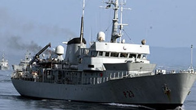 The Naval Service sent the LÉ Aisling to assist the tanker at the request of the Irish Coast Guard