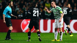 Scott Brown had his hands full as he was given the tricky task of keeping Andrea Pirlo quiet