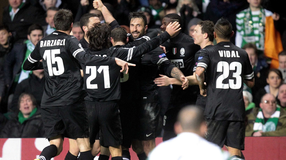 ...And Juve's Montenegrian striker Mirko Vucinic all but knocked Celtic out of the competition by grabbing a third goal as the Italian side take a 3-0 lead into the second leg in Turin...
