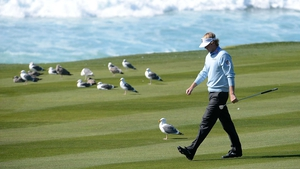Brandt Snedeker holds a share of the lead at Pebble Beach