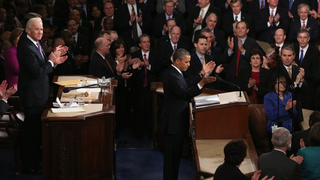 President Obama delivered his speech before a joint session of Congress