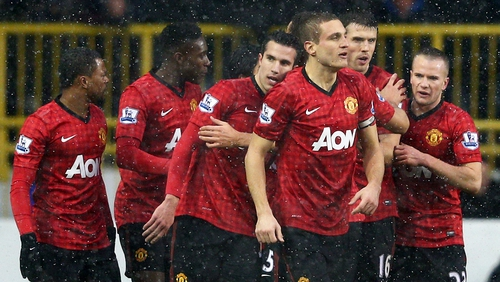 Manchester United are closing in on title No 13 under Alex Ferguson
