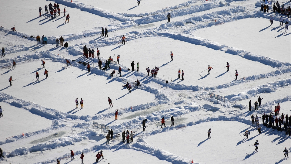 The 2013 USA Hockey Pond Hockey National Championships in Eagle River, Wisconsin