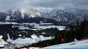 Marion Rolland of France during the Alpine Ski World Championships Women's Downhill in Austria
