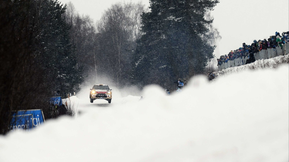 Daniel Sordo of Spain during day three of the WRC Sweden
