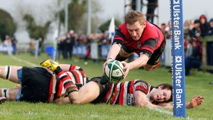 Tullamore's David Clavin goes for the line in the Ulster Bank All Ireland Junior Cup final