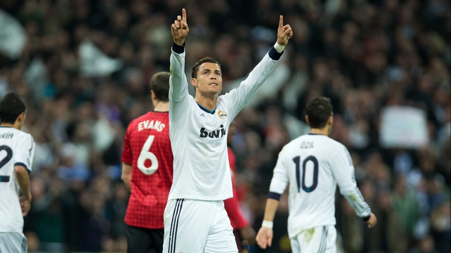 Cristiano Ronaldo salutes the home fans after his equaliser