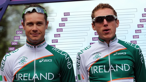 Nicolas Roche (left) and Dan Martin will race for Ireland in Florence
