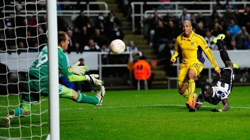 Papiss Cisse had two goals disallowed and this last-minute header saved as Newcastle were held at home to Metalist