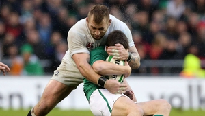Joe Marler wraps up Ronan O'Gara at Aviva Stadium
