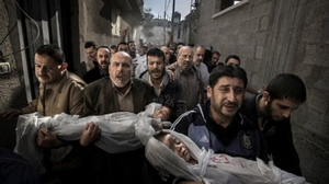Paul Hansen took his award-winning photograph in Gaza on 20 November