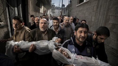 Paul Hansen took his award-winning photograph in Gaza on 20 November