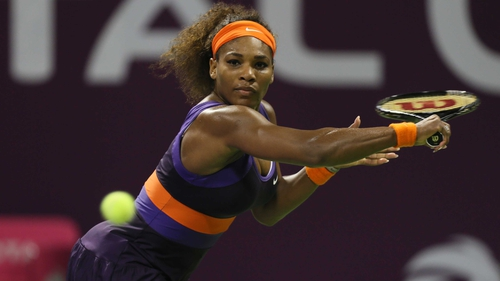 Serena Williams is through to the semi-finals of the Qatar Open