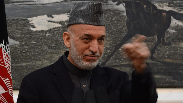 Hamid Karzai expressed his anger over the deaths of ten civilians in a NATO air strike on Wednesday