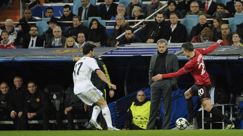 Robin van Persie produced a hard-working performance against Real Madrid on Wednesday night