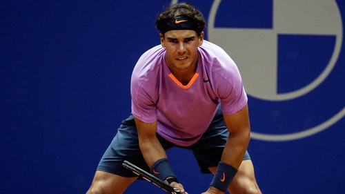 Rafael Nadal was troubled by discomfort in his left knee but still advances to the final
