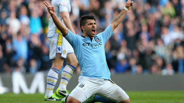 Sergio Aguero scored from the penalty spot