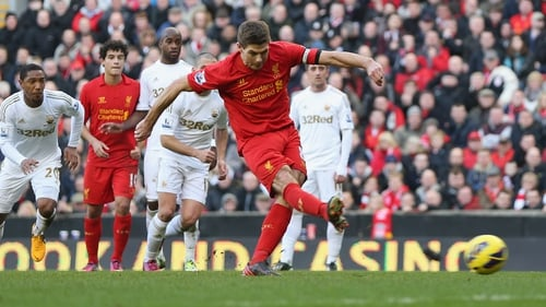 Steven Gerrard opened the scoring from the penalty spot