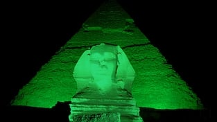 Iconic historical sites go green for St. Patrick's Day