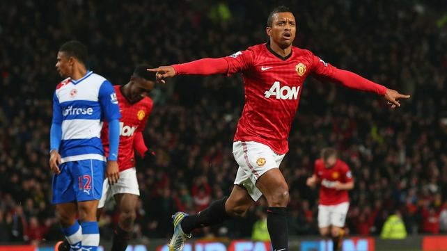 Nani put Manchester United on the way to victory