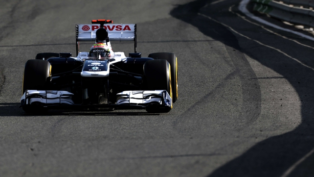 Pastor Maldonado heads the Williams team