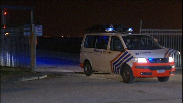 Two vehicles each carrying four armed men drove up to a security van near a Swiss passenger plane