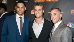 Charlie Barnett, Jesse Spence and David Eigenberg from Chicago Fire