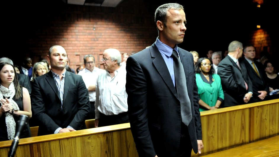South African Olympic and Paralympic athlete Oscar Pistorius was charged with murdering his girlfriend Reeva Steenkamp