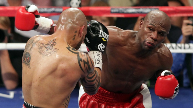 Floyd Mayweather will next step between the ropes on 4 May against Robert Guerrero