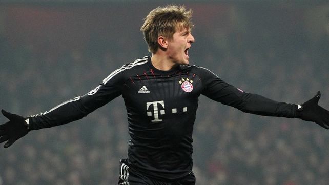 Bayern Munich's midfielder Toni Kroos put the Germans 1-0 up after seven minutes