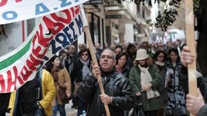 Greek journalists went on strike yesterday